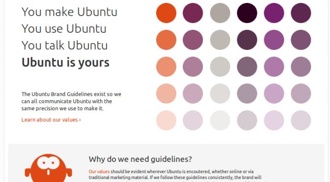 Canonical lança site de design da marca Ubuntu