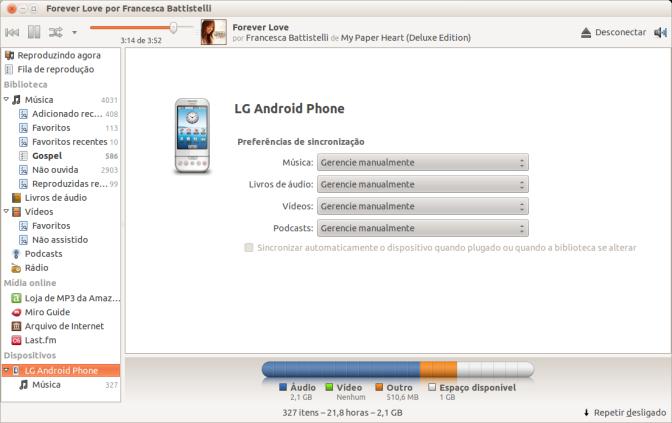 Android: como sincronizar músicas entre Android e Ubuntu