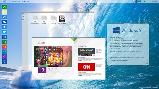 Designer concebe Desktop do Windows 9 e o faz parecer com os DEs Linux