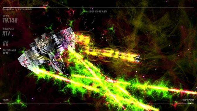 [vídeo] Beat Hazard: jogo frenético de nave e música no Ubuntu