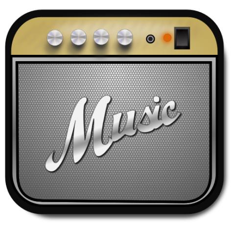 """Ícone do app """"Music"""" do Ubuntu Phone OS"""
