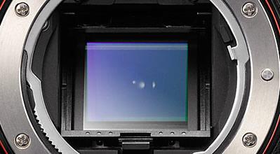 Sensor de uma câmera DSLR